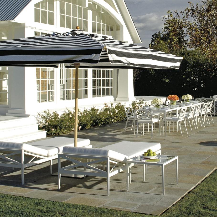 Camas Solares y Tumbonas JANUS et Cie Azimuth Cross Chaise Lounge