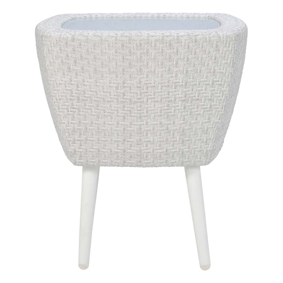 Mesa JANUS et Cie Katachi Glass Top Side Table Square