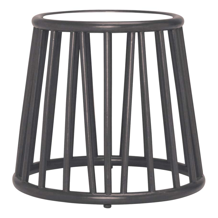 Mesa JANUS et Cie Kyoto Rattan Side Table Round