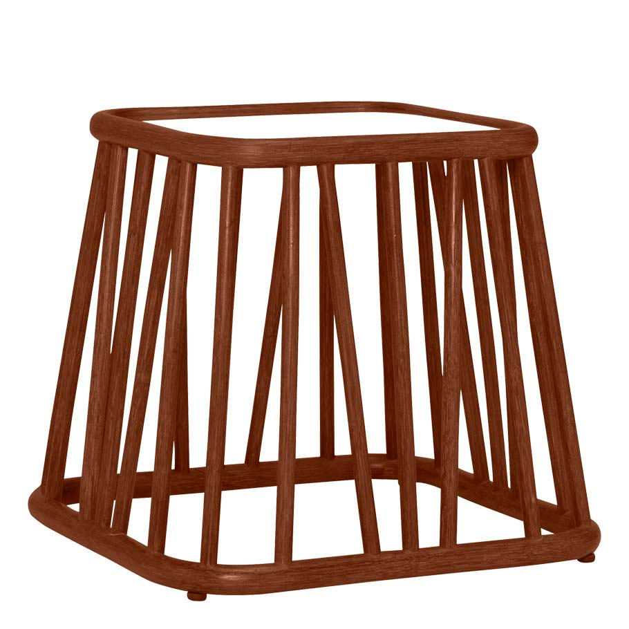 Mesa JANUS et Cie Kyoto Rattan Side Table Square