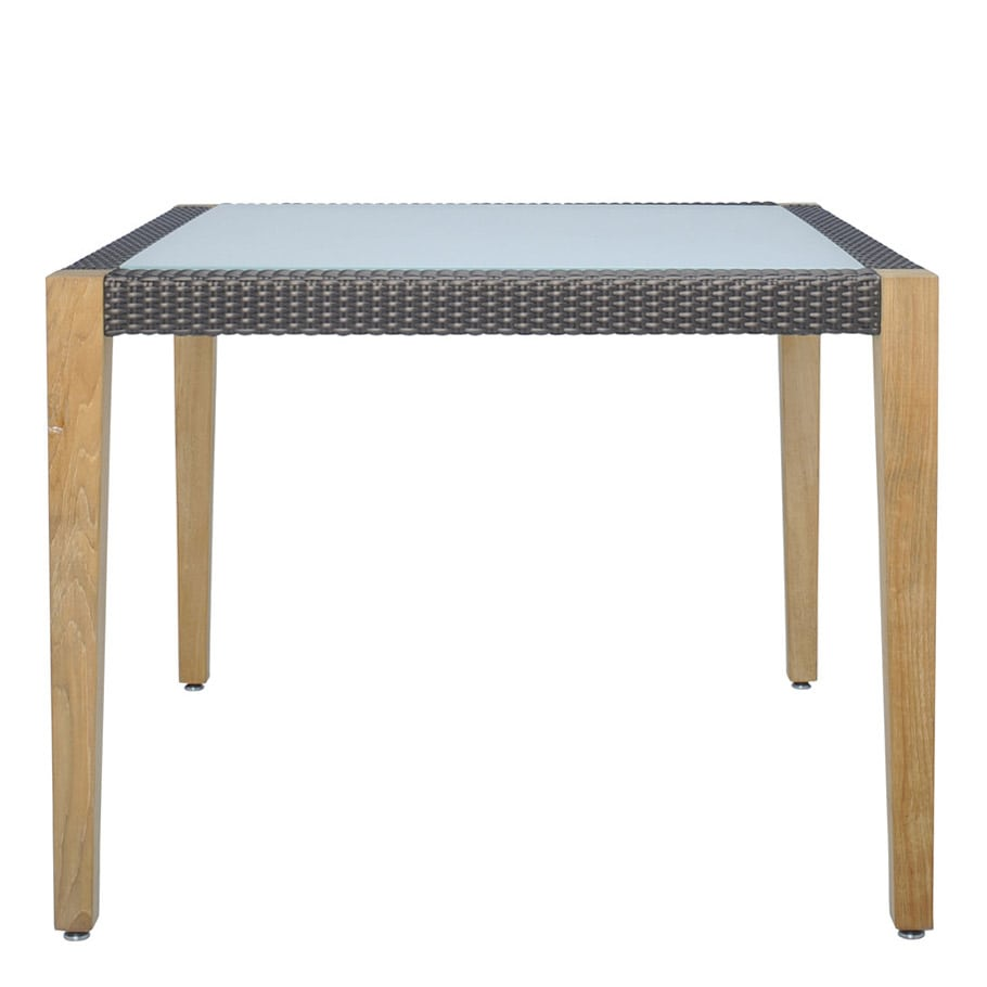 Mesa JANUS et Cie Quinta Teak - Woven Dining Table Square