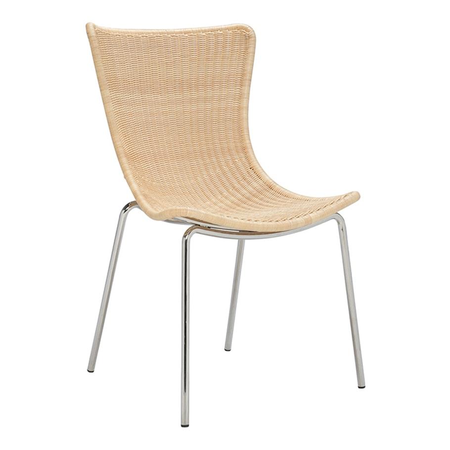 Silla JANUS et Cie Fibonacci Ava Rattan Side Chair