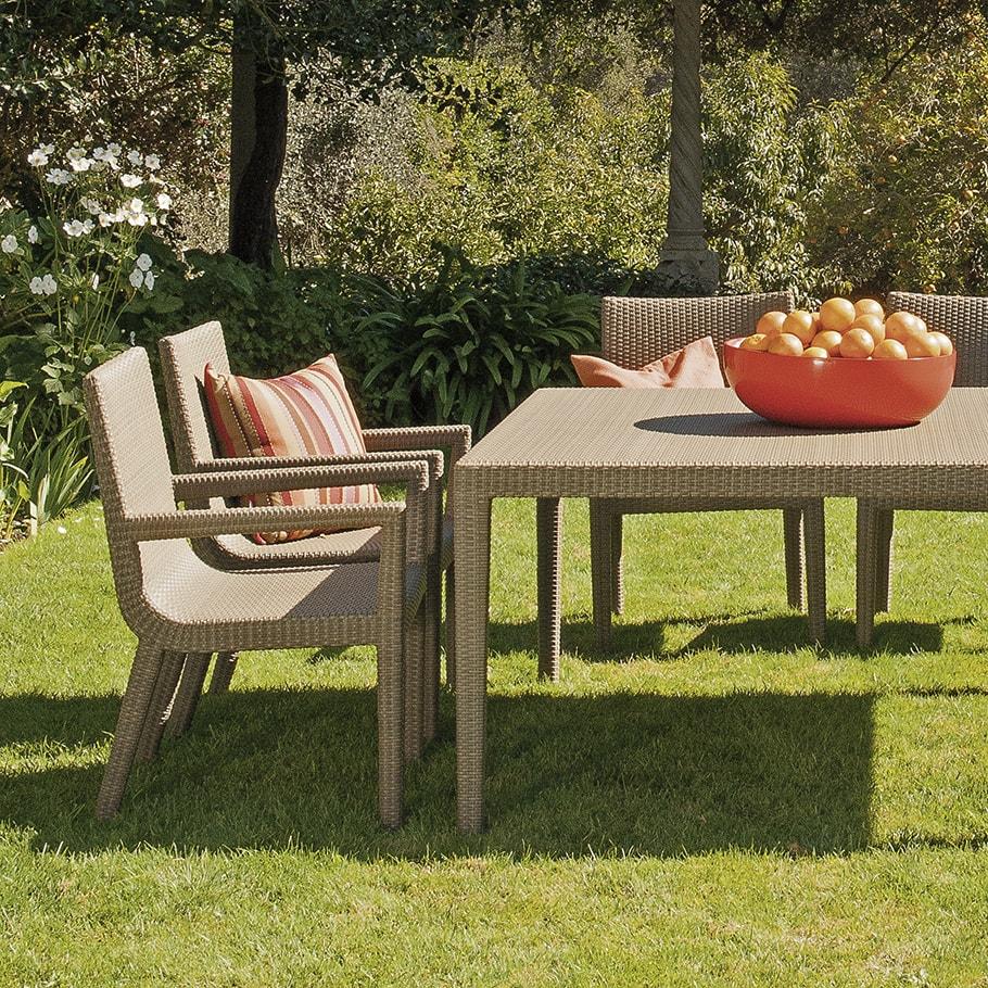 Silla JANUS et Cie Quinta Fully Woven Armchair